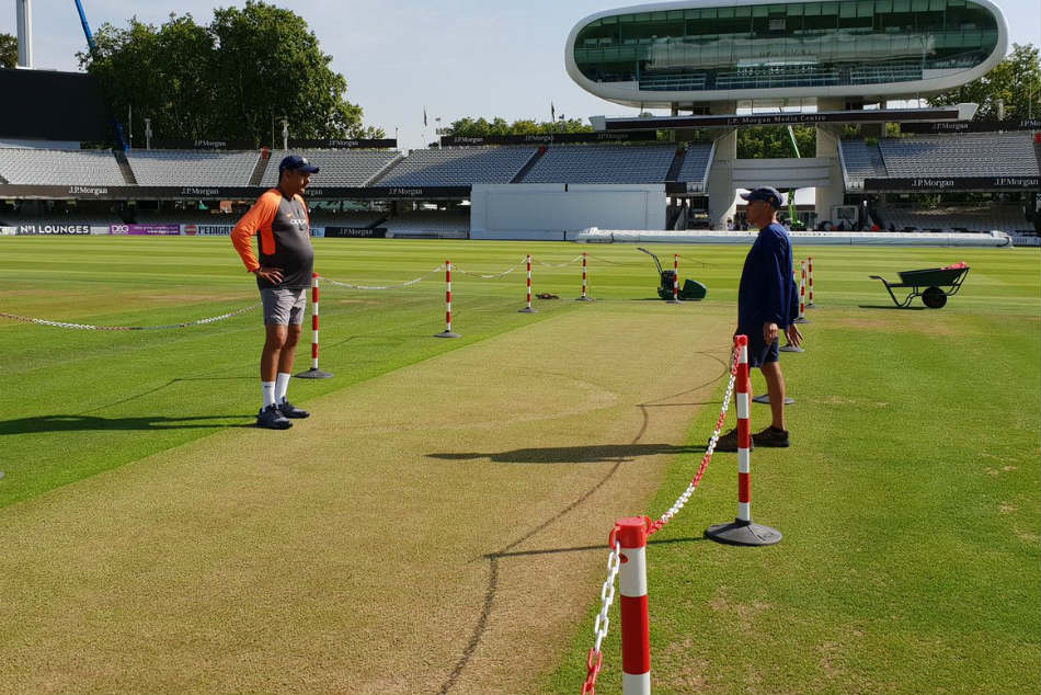India vs England: First look of Lord's pitch out