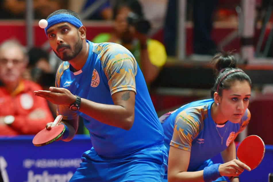 Asian Games 2018 Sharath Kamal Manika Batra Clinch Bronze In Mixed Doubles Table Tennis