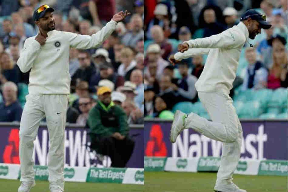 India Vs England 5th Test Shikhar Dhawan Entertains The Oval