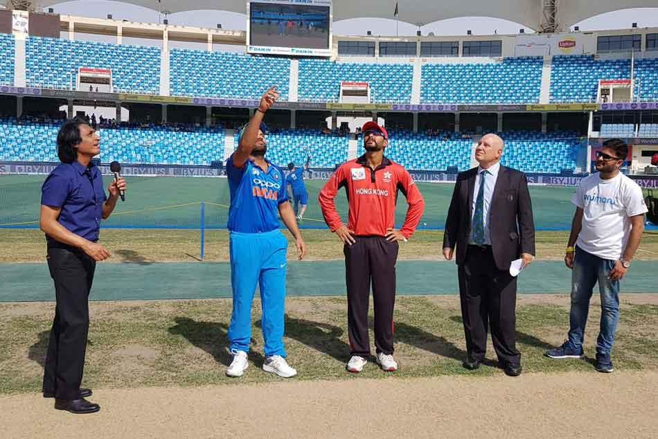 Asia Cup 2018 India Vs Hong Kong Hong Kong Win Toss Invite Rohit Sharma To Bat