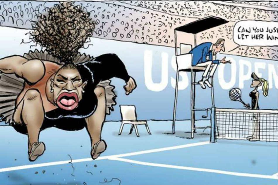 Australian Cartoonist Under Fire Serena Williams Sketch