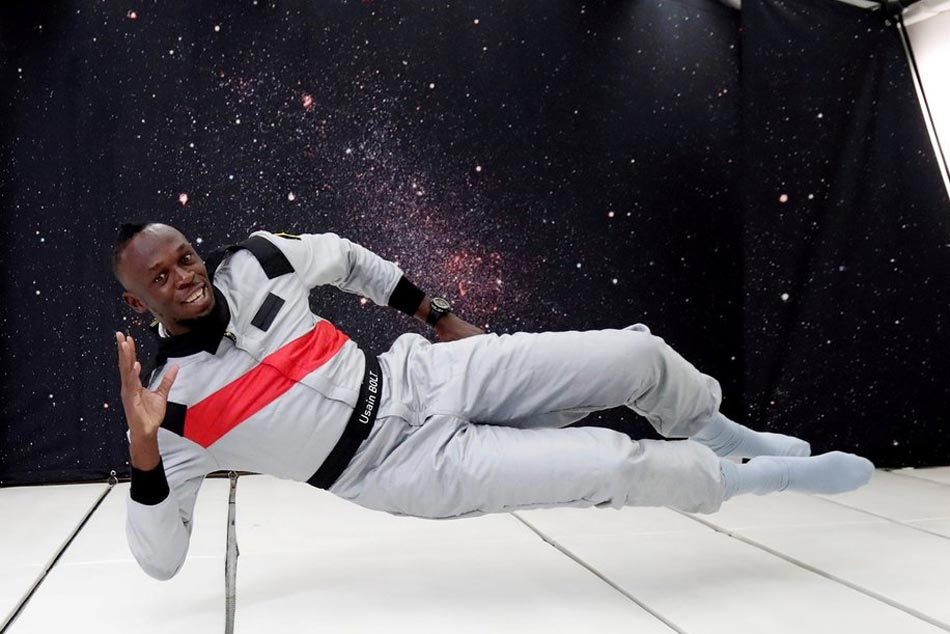 Sprint King Usain Bolt Enters Space Race Zero Gravity Sprint Watch Video