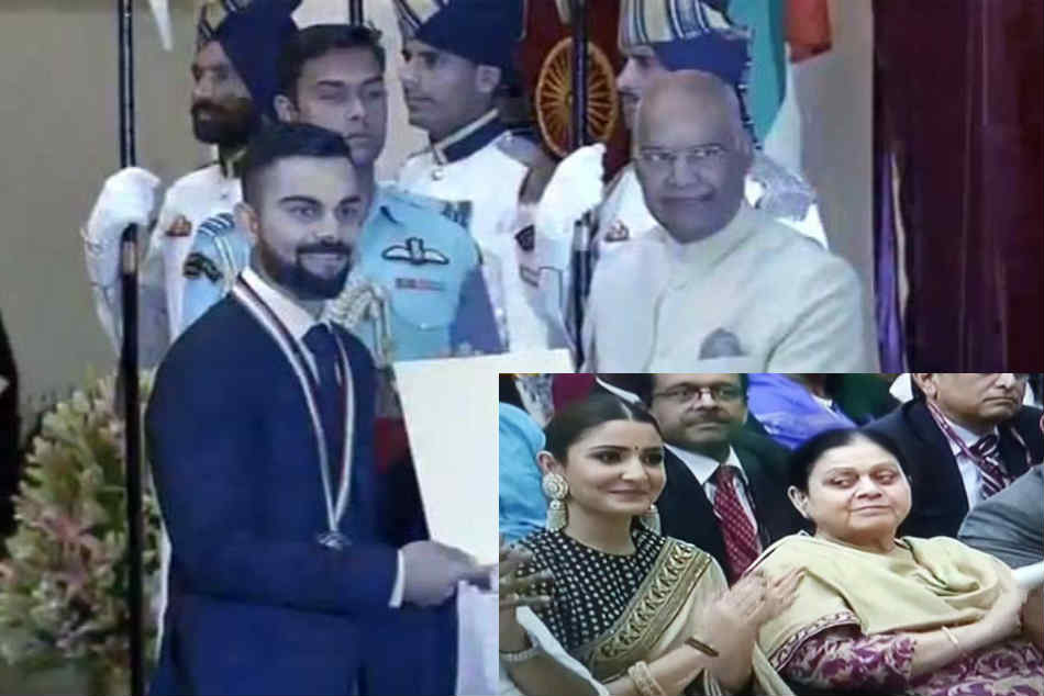 WATCH: Virat Kohli Receives the Prestigious Khel Ratna Award