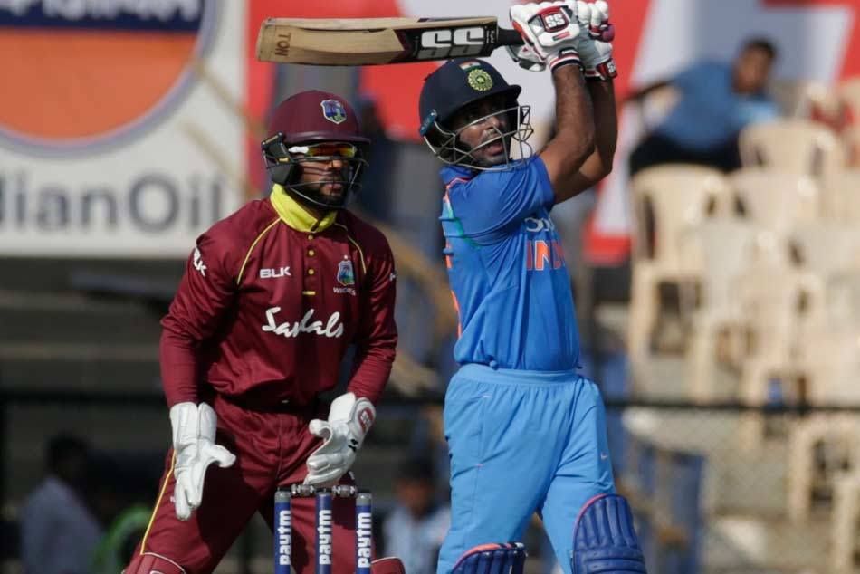 India Vs West Indies 4th Odi Mumbai Ambati Rayudu Completes Century