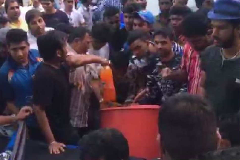 WATCH: Amid water crisis, angry fans loot cold drinks from vendor during IND vs WI 4th ODI in Mumbai