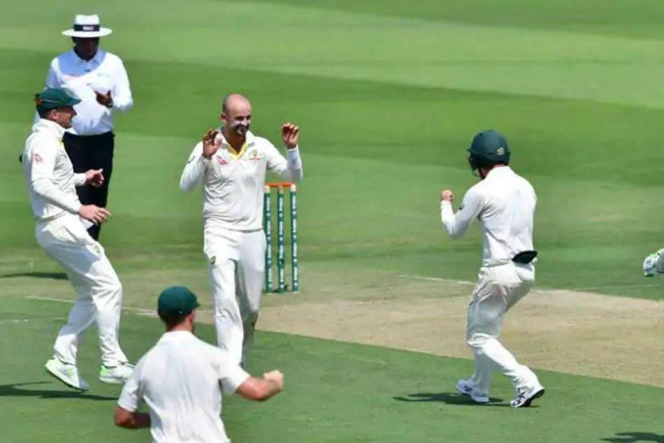 Pakistan Vs Australia Nathan Lyon Takes Four Wickets Off Six Balls As Pak