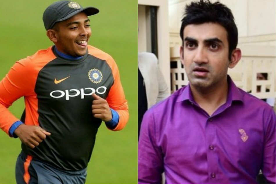 Gautam Gambhir Explains Why It Is Wrong Compare Prithvi Shaw With Virender Sehwag