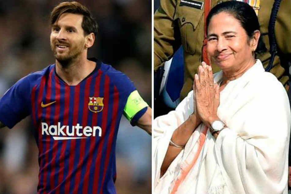 Lionel Messi Gifts West Bengal Cm Mamata Banerjee Special Barcelona Jersey Didi No 10