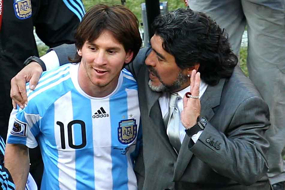 Maradona It S Useless Making Leader Messi