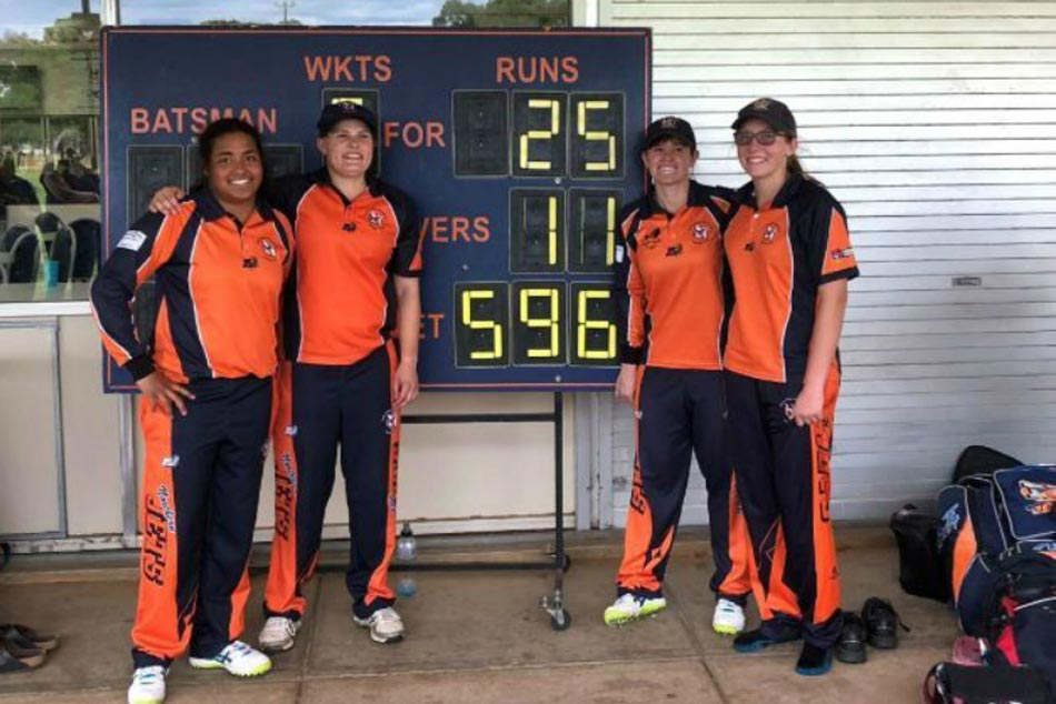 Adelaide Women S Team Amasses 596 Runs 50 Over Match Wins 571 Runs