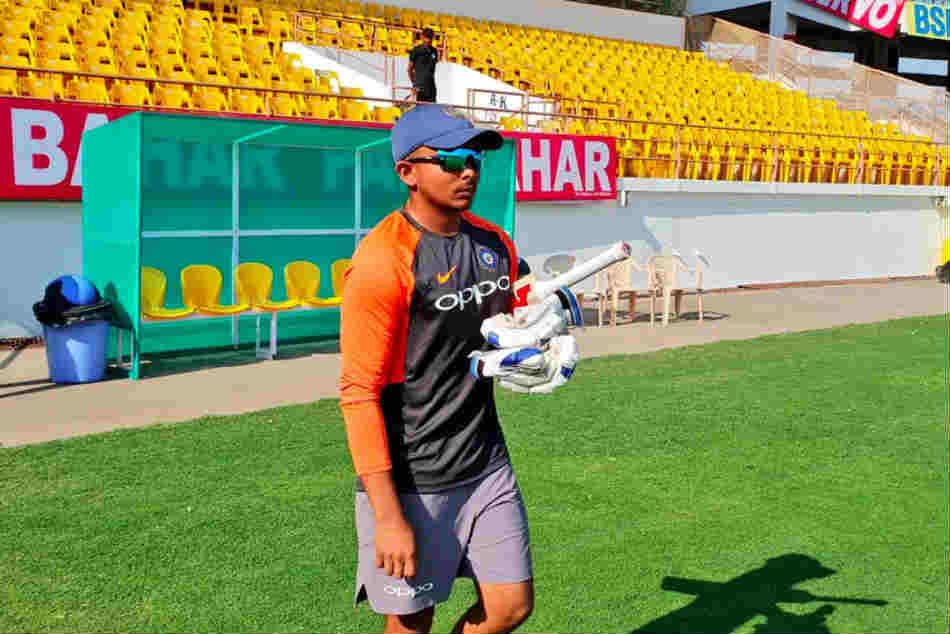 India Vs West Indies Prithvi Shaw Make His Test Debut Rajkot