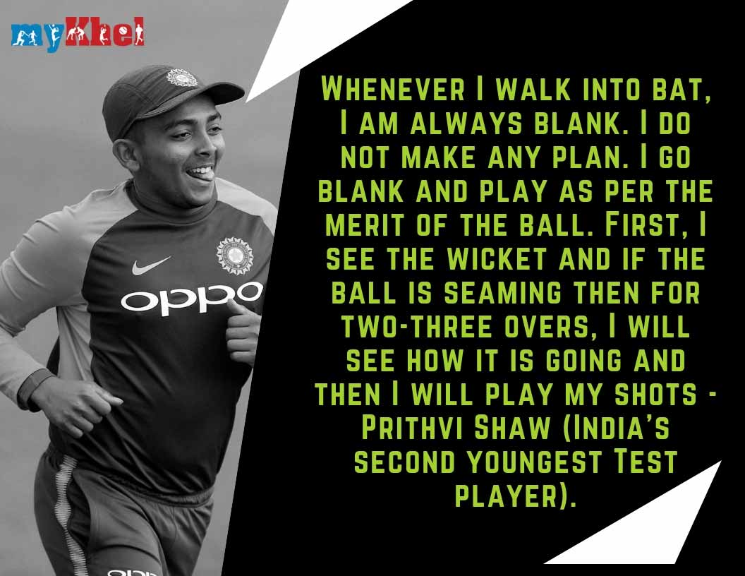 I dont pre-meditate before an innings: Prithvi Shaw