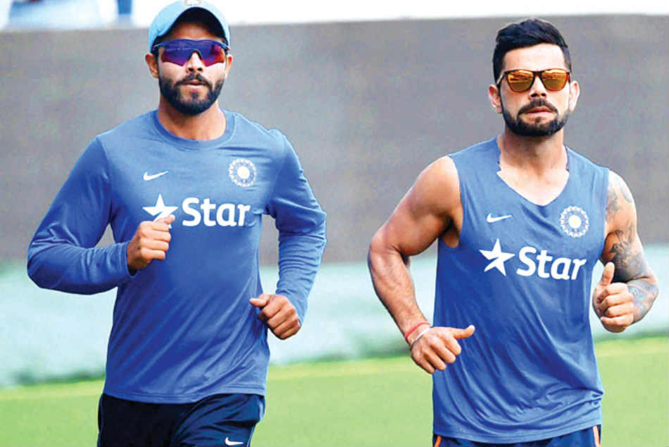 Ravindra Jadeja Defeats Virat Kohli On Field Race While Chasing The Ball Watch Video