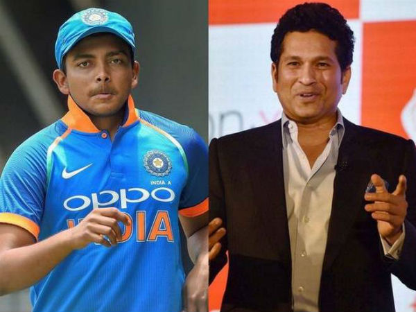 India vs West Indies: Sachin Tendulkar reveals Prithvi Shaw's 'biggest strength'