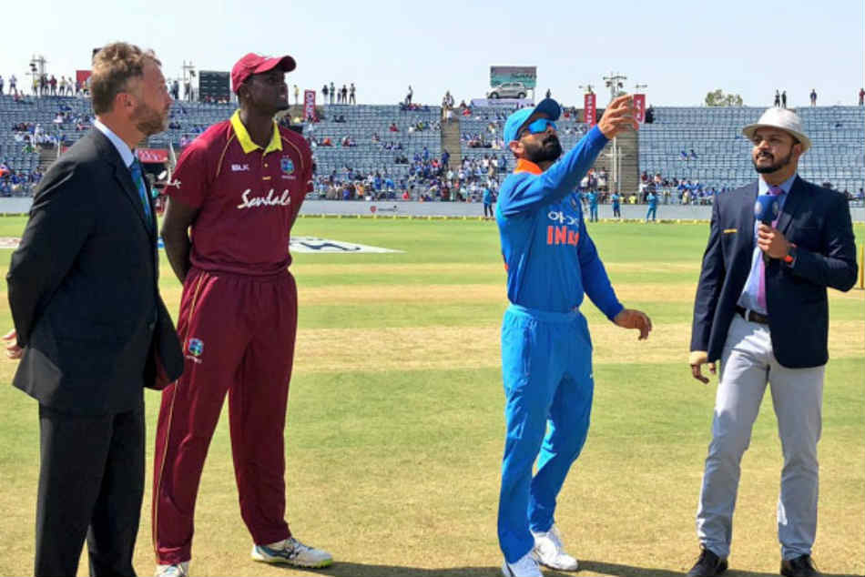 India Vs West Indies 4th Odi Mumbai Jadhav Jadeja Return As India Bat First