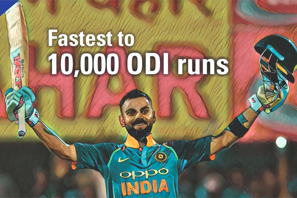 Virat Kohli Becomes Fastest to Score 10,000 ODI Runs and Fifth Indian Batsman to Reach The Milestone