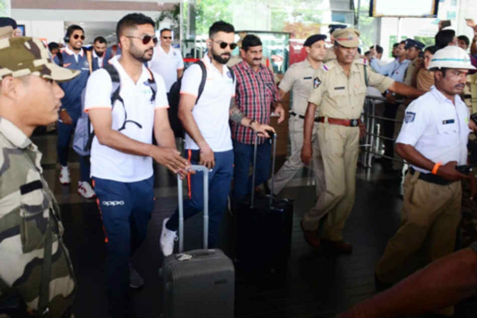 Team India reaches Vizag for 2nd ODI, Virat Kohli on cusp of another world record