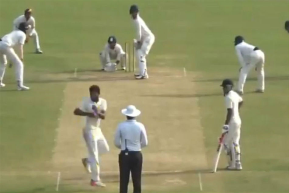 Watch: Bowler Leaves Umpire Stunned With His Bizarre Bowling Action