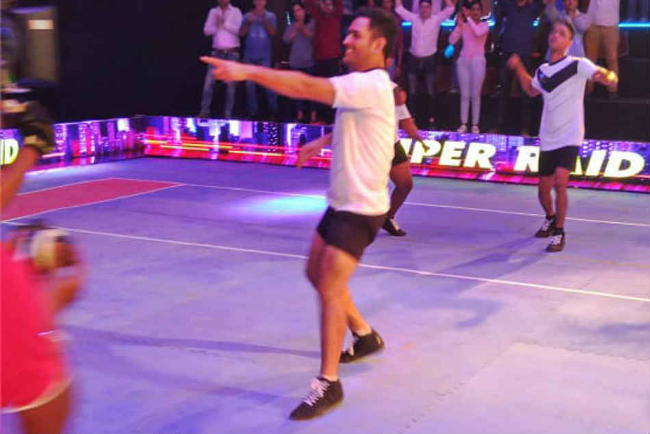 Ms Dhoni Pro Kabaddi League Promotion At Mumbai