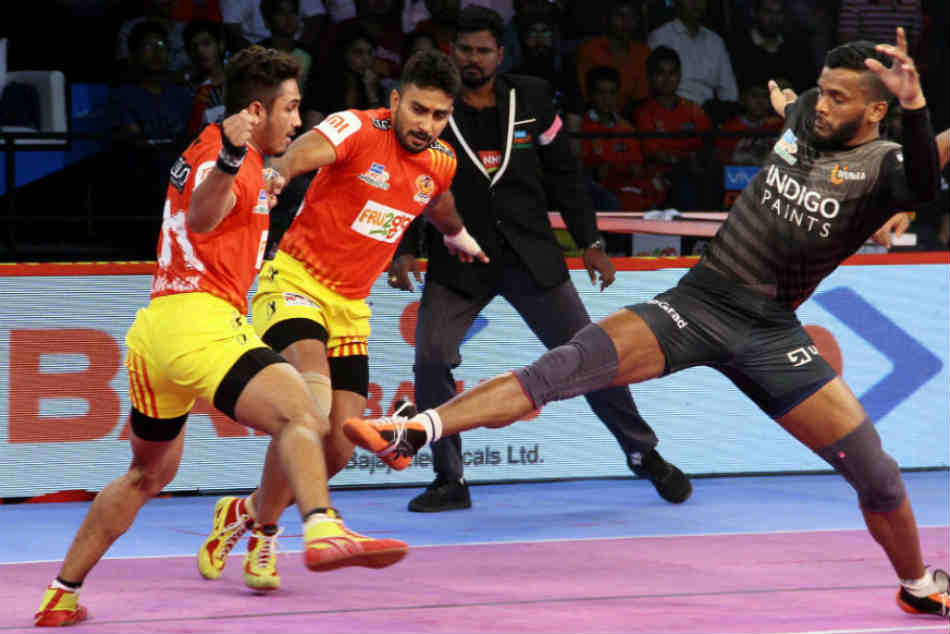 Pro Kabaddi 2018 Gujarat Fortunegiants Register Thrilling Comeback Win Over U Mumba