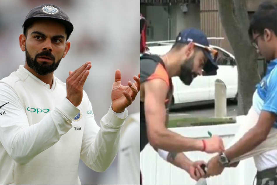 Virat Kohli wins hearts yet again with brilliant gesture towards a fan in Australia