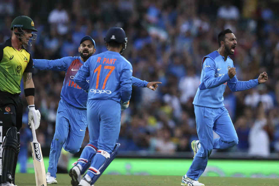 Sydney T20i Krunal Pandya Records Best T20i Bowling Figures By A Spinner