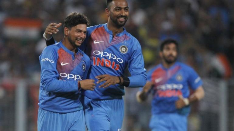 India Vs West Indies 1st T20i Kuldeep Karthik Shine As Hosts