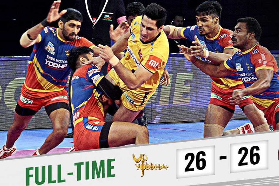 Up Yoddha Telugu Titans Settle A Tie