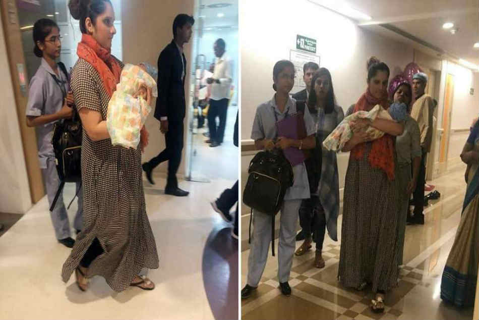 Spotted Sania Mirza Leaves Hospital With Son Izhaan Mirza Malik