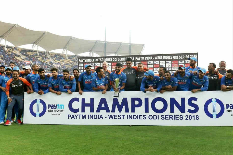 Team India Celebrate Series Victory Over Windies in Style