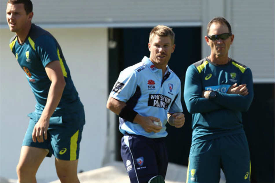 Burying The Hatchet David Warner Enjoys Net Session Under
