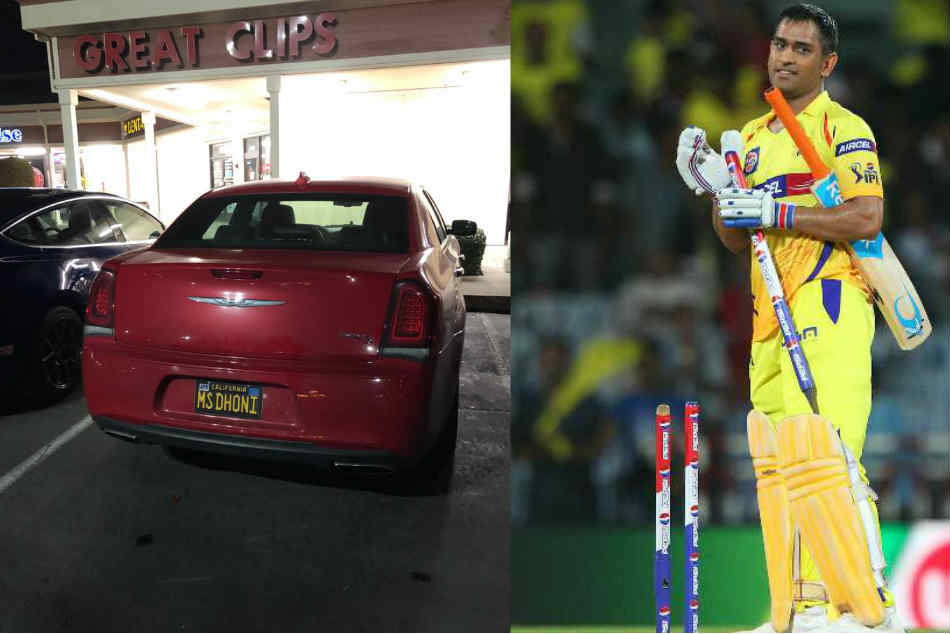 MS Dhoni is in LA? CSK left surprised over an MS Dhoni number plate found on fans car in Los Angeles
