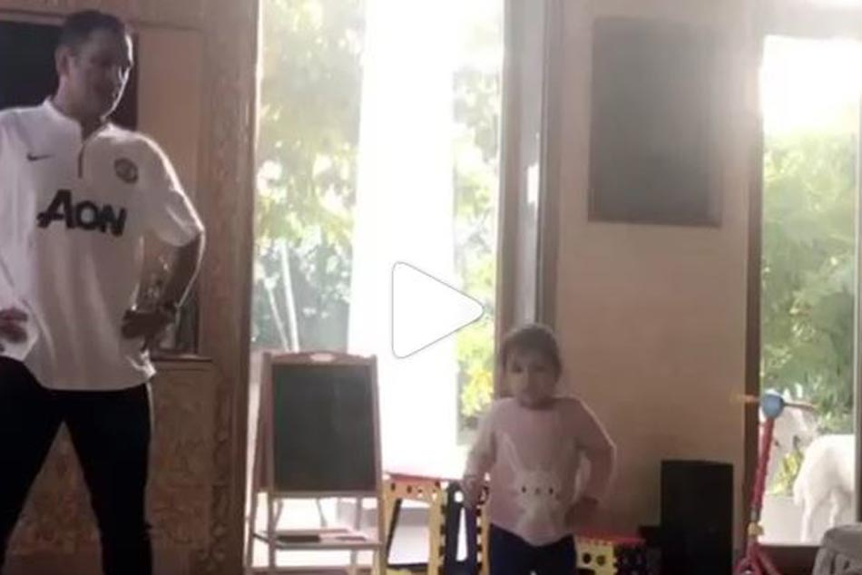 Ms Dhoni Takes Dancing Tips From Ziva Shares Adorable Video With Daughter Watch