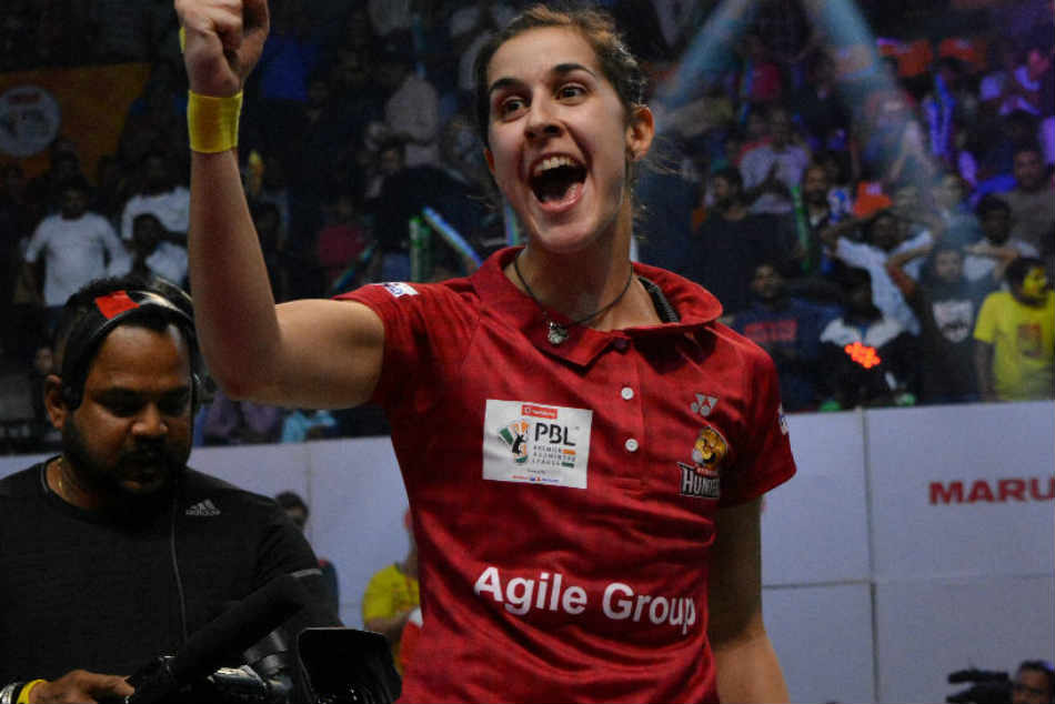 Premier Badminton League Pv Sindhu Wins Match Crowd Against Carolina Marin