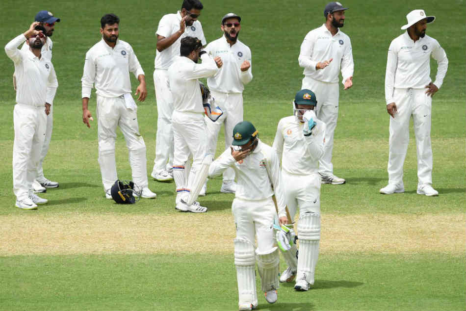India Vs Australia Live Score 1st Test Day 2 Tea Here At The Adelaide Ovel Australia 117