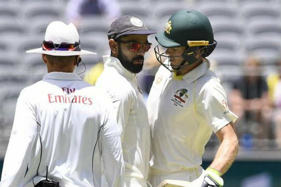 Ind vs Aus 2nd Test, Day 4: Watch Tim Paine, Virat Kohli take rivalry to whole new level, umpire interferes
