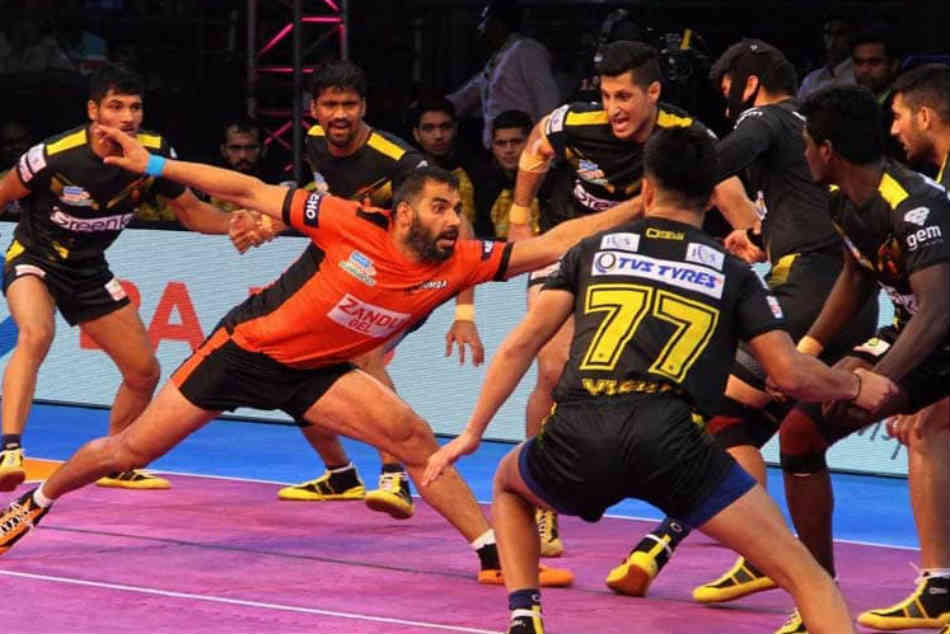 Pro Kabaddi League Up Yoddha Beat Telugu Titans U Mumba