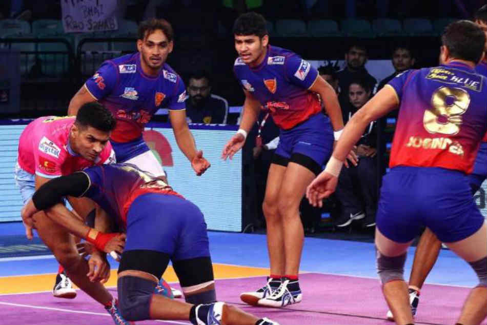 Pro Kabaddi League 2018 Highlights Jaipur Pink Panthers Vs Dabang Delhi Match