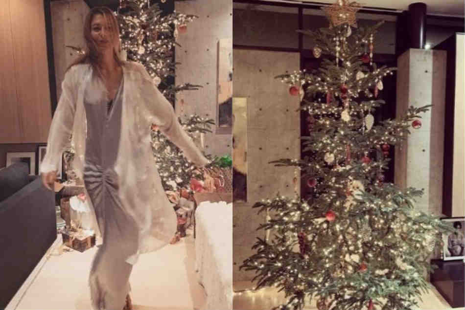Russian Tennis Star Maria Sharapova Celebrate Christmas Her Home