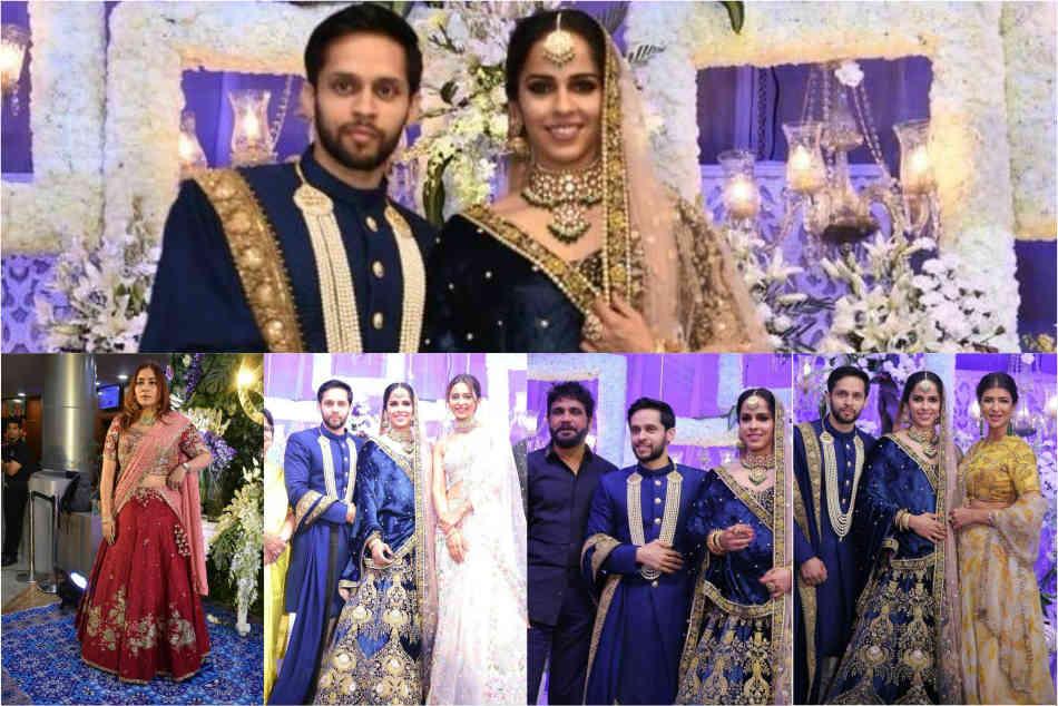 Love All Saina Nehwal Parupalli Kashyap Go From Classy Elegant Post Wedding