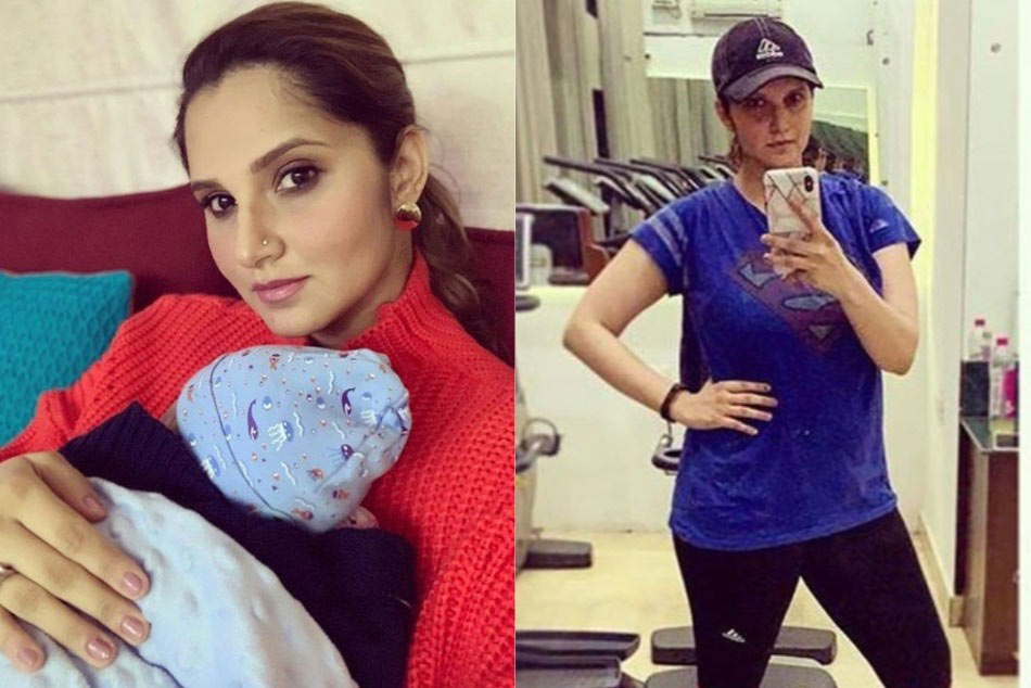 Sania Mirza Hits The Gym After Pregnancy But Does Not Miss Out On Mommy Duties