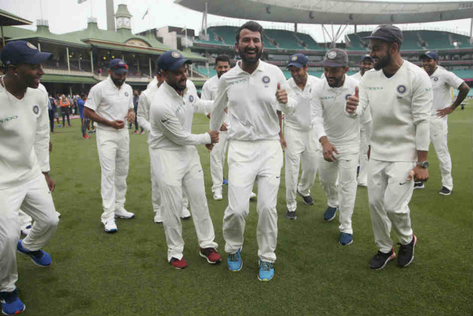 Cheteshwar Pujara Just Can T Dance Watch India Stars Celebrate Historic Win