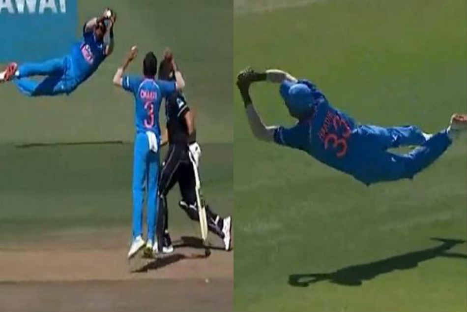 Hardik Pandya takes a blinder to dismiss Kane Williamson in India vs New Zealand 3rd ODI - Watch video