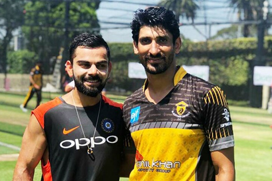 Lahore Qalandars' pacers bowl at Indian batsmen in the nets