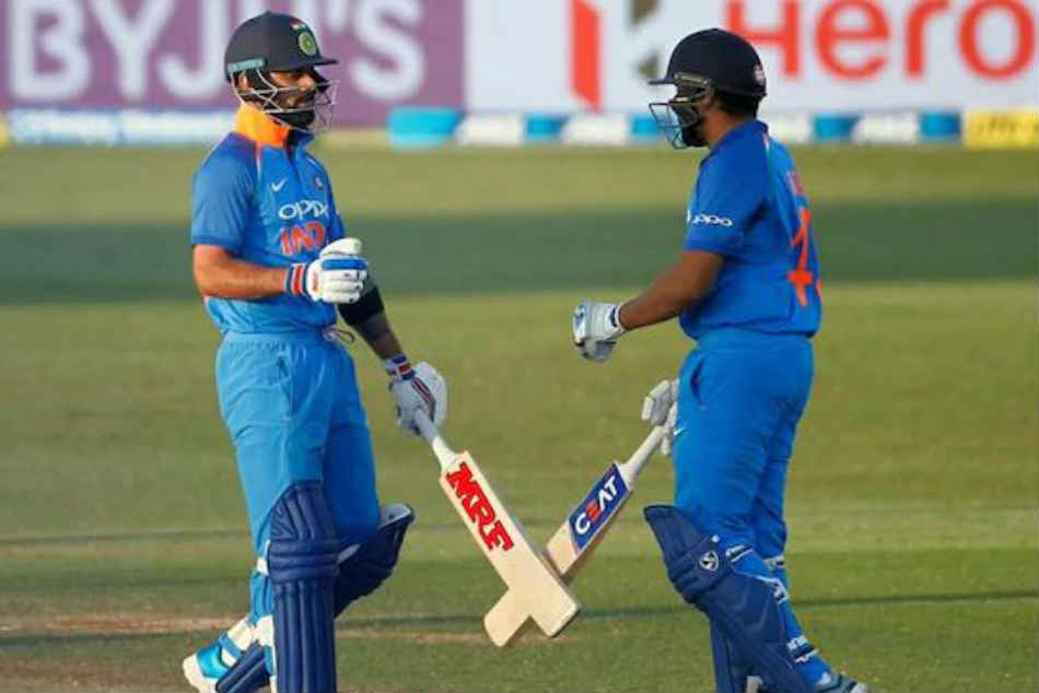 India Vs New Zealand Live Score 3rd Odi Kohli Rohit Sharm Half Centuries