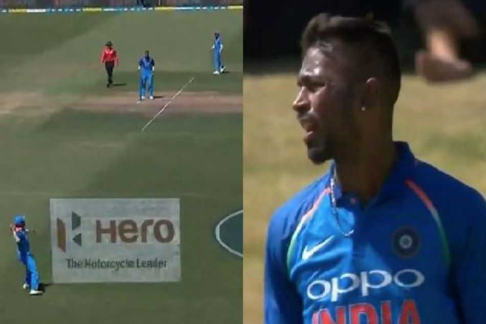 WATCH: Shikhar Dhawans wild throw to Rohit Sharma leaves Hardik Pandya miffed during 3rd ODI