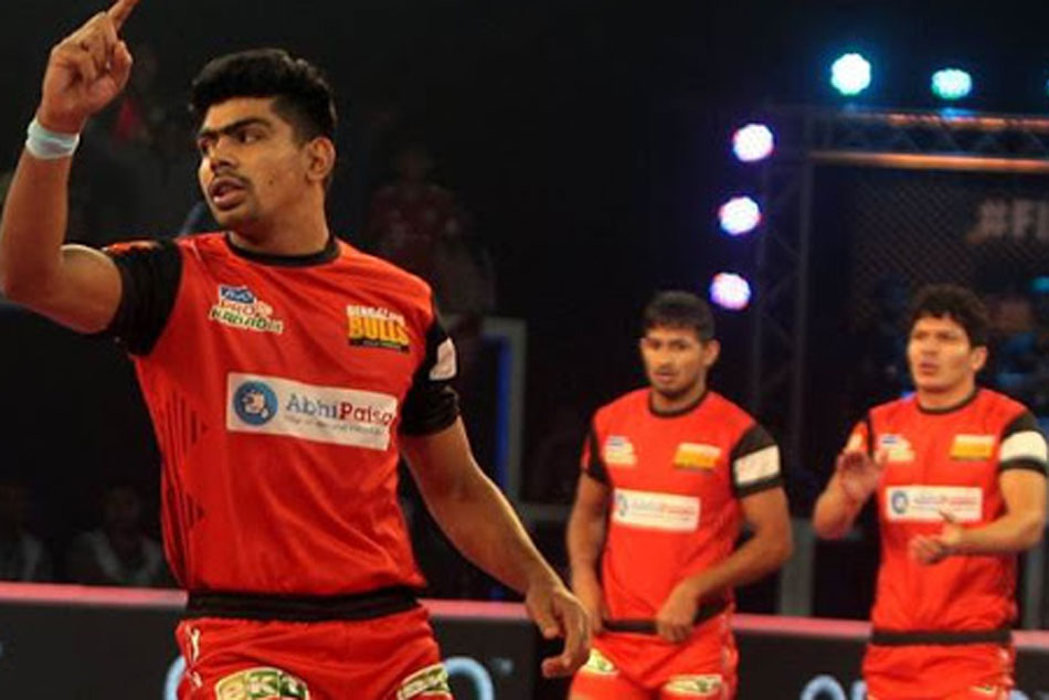 Pawan Sherawat Inspired Bengaluru Bulls Beat Gujarat Fortunegiants 38 33 To Lift Maiden Title