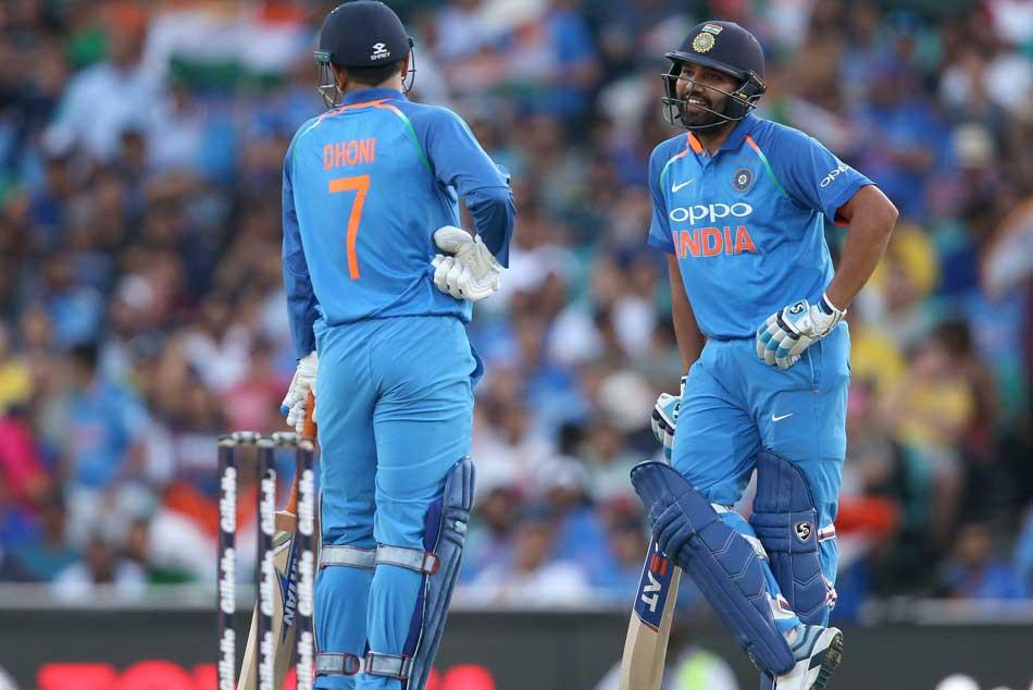 India Vs Australia Ms Dhoni Is India S Ideal No 4 Says Rohit Sharma