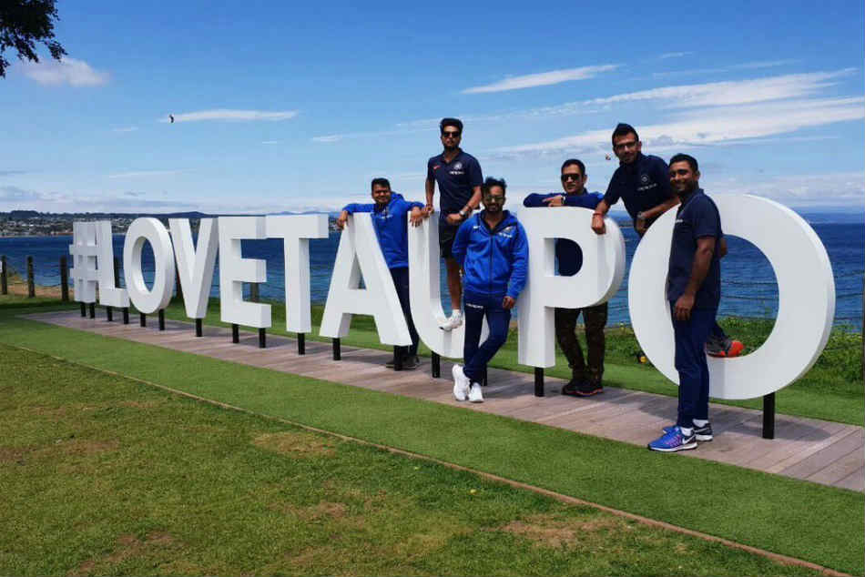 Ms Dhoni Kuldeep Yadav Others Enjoy Scenic Route Tauranga 2nd Odi