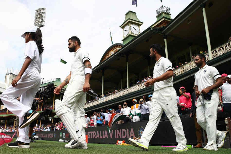 India Vs Australia Team India Sports Black Armbands Mourn Demise Of Ramakant